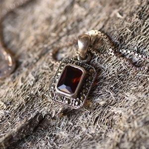 Marquisette and Garnet necklace
